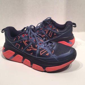 HOKA ONE ONE Infinite Neon Coral Running Sneakers
